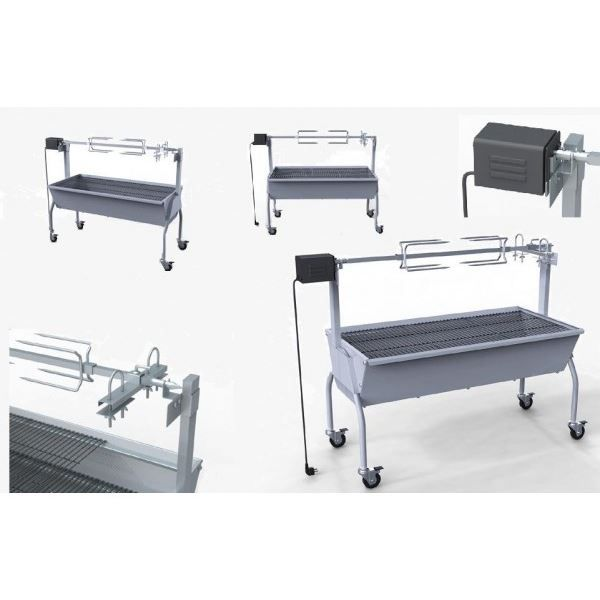 barbecue rotissoire electrique inox tourne broche achat. Black Bedroom Furniture Sets. Home Design Ideas