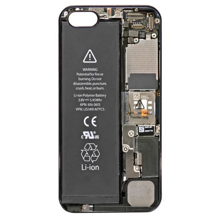 coque iphone 5 5s interieur smartphone casse batterie