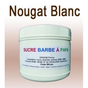 sucre barbe papa nougat blanc 500g achat vente confiserie de sucre sucre barbe papa. Black Bedroom Furniture Sets. Home Design Ideas