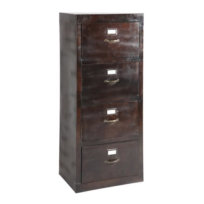 armoire range dossiers suspendus 4 tiroirs en acier atelier metal achat vente meuble a. Black Bedroom Furniture Sets. Home Design Ideas