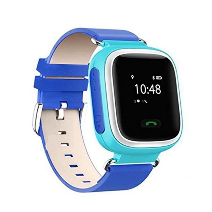 q60 smart kids bracelet de montre gps lbs enfant cadeau bleu achat montre connect e pas cher. Black Bedroom Furniture Sets. Home Design Ideas