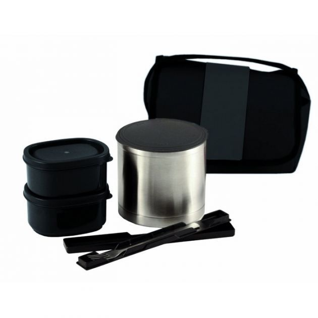 Lunch box isotherme;3 compartiments : 1 bol 0.50L / 2 boîtes 0.30L;1
