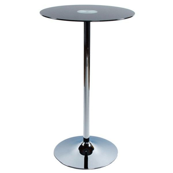 Table de bar design harry noir achat vente mange for Achat table bar
