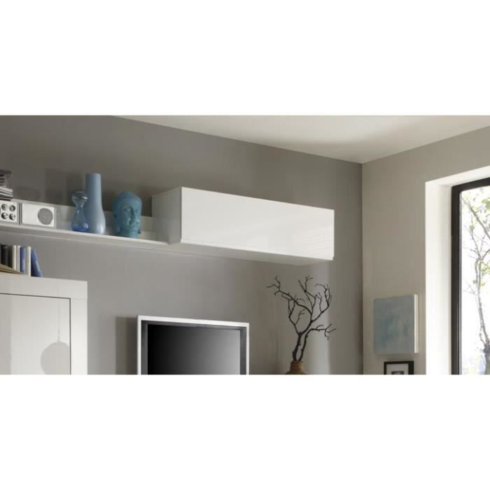 Miliboo meuble mural design eria horizontal o achat for Meuble mural horizontal cuisine