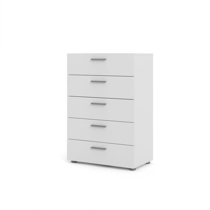 pepe commode chambre adulte style contemporain blanc l 70 cm achat vente commode de. Black Bedroom Furniture Sets. Home Design Ideas