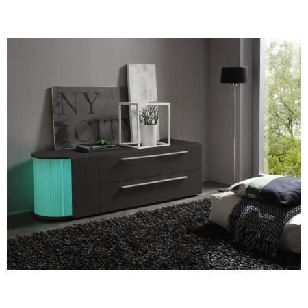 meuble tv led gris anthracite laqu s rial 14 achat vente meuble tv meuble tv led gris. Black Bedroom Furniture Sets. Home Design Ideas