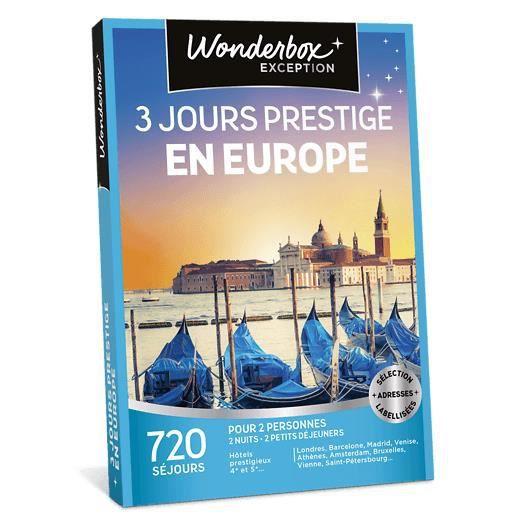 COFFRET SÉJOUR Wonderbox - Box cadeau - 3 jours prestige en Europ