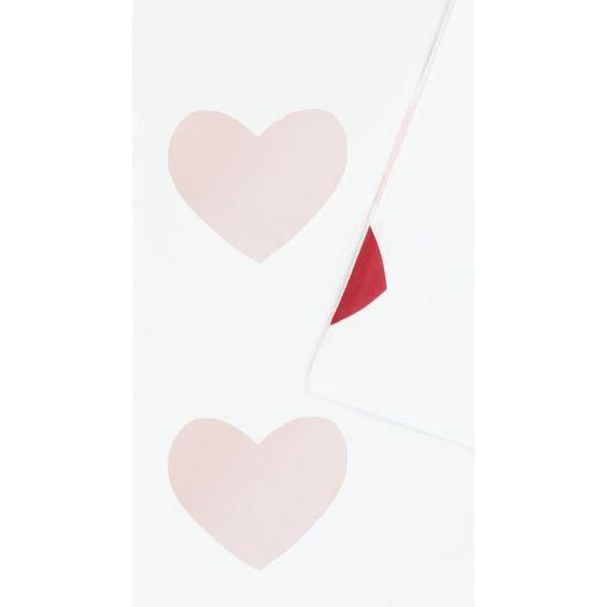 Kadolis Set Housse de Couette taie 100x140 Coeurs Roses