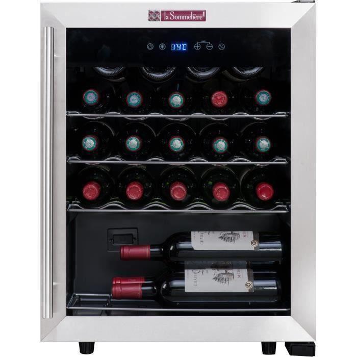 LA SOMMELIERE LS24A Cave à vin de service - 23 bouteilles - Pose libre - Classe A - L 48 x H 64 cm
