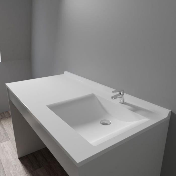 Plan vasque RESIPLAN - 124 cm avec vasque déportée à droite