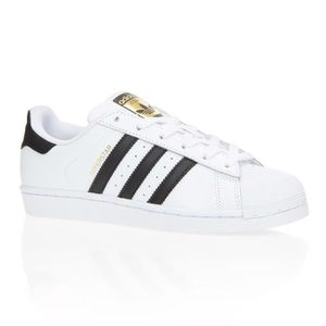 BASKET ADIDAS Baskets Superstar - Mixte - Blanc et noir