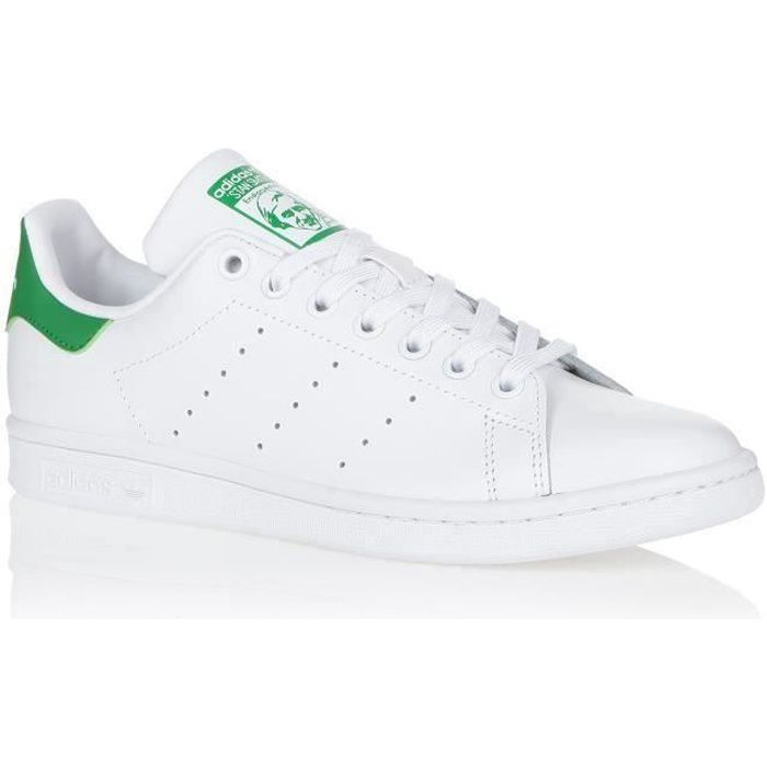 ADIDAS ORIGINALS Baskets STAN SMITH - Homme - Blanc/Vert