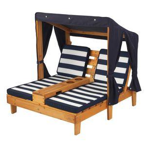 MATELAS GONFLABLE KIDKRAFT - Double chaise longue enfant en bois ave