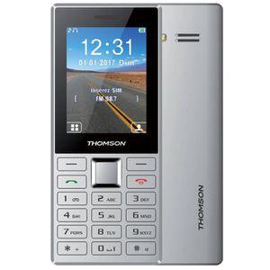 Téléphone portable Thomson Tlink 24+ Argent