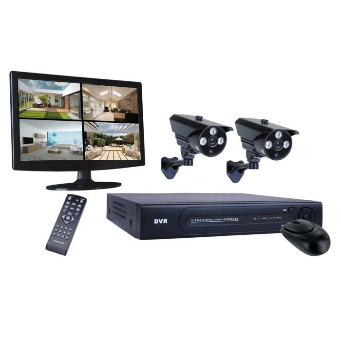 smartwares kit de surveillance dvr724s filaire hd 720. Black Bedroom Furniture Sets. Home Design Ideas