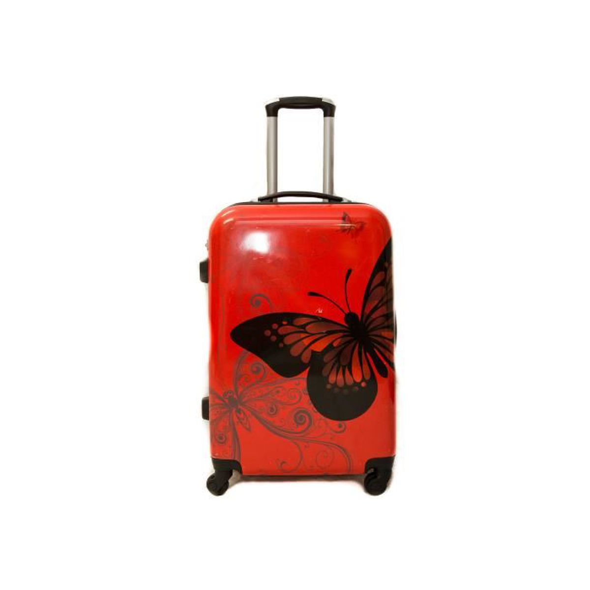 valise trolley moyenne 4 roues 65cm sole ultra leger rouge rouge achat vente valise. Black Bedroom Furniture Sets. Home Design Ideas