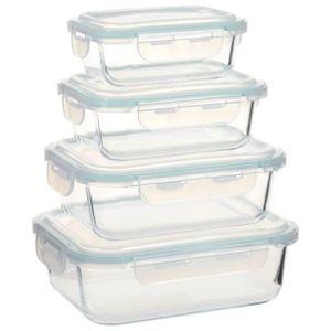 BOITES DE CONSERVATION Lot de 4 Boîtes Alimentaires Boîte à Déjeuner en V