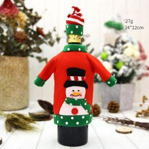 VIN ROUGE Père Noël vin Belle décoration avec chapeau Vêteme