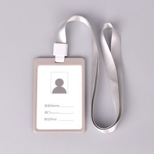 PORTE BADGE GRIS Etui Porte Badge Carte Visite ID Travail Iden