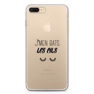 FAUX CILS Coque iPhone 8 / 8 Plus J'men bas les cils iPhone