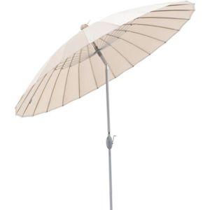 PARASOL SHANGHAI Parasol Jardin - 260 cm - Rond - Sable -