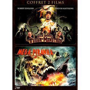 DVD FILM COFFRET JACK BROOKS TUEUR DE MONSTRES/MEGA PIRANHA