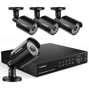 CAMÉRA DE SURVEILLANCE FLOUREON DVR 8CH Système de Surveillance 6-en-1 Sy