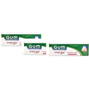DENTIFRICE GUM Paroex Gel Dentifrice Lot de 3 x 75 ml