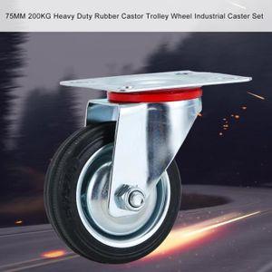 ROUE - ROULETTE 4pcs roulette pivotante pour meuble avec freins -
