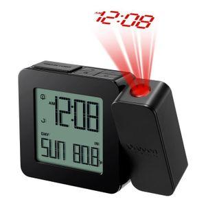 RÉVEIL SANS RADIO Réveil avec projection de l'heure et température i