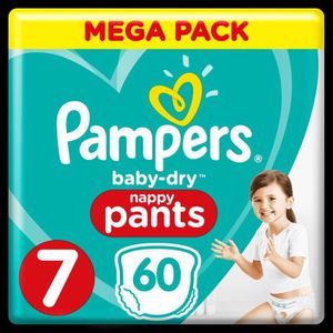 COUCHE Pampers Baby-Dry Pants T7, x60