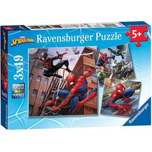 PUZZLE SPIDERMAN Puzzle En action 3x49 pcs