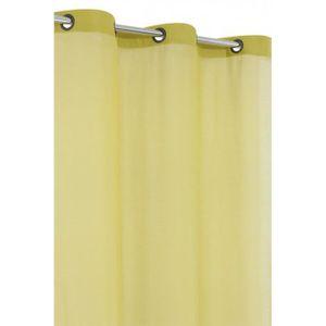 RIDEAU Voilage Uni 140 x 240 cm Tissu Legerement Epais Ve