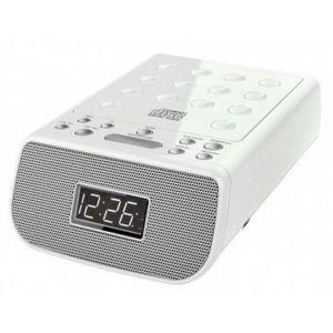 Radio réveil SOUDMASTER URD860WE Radio-réveil stéréo CD / MP3