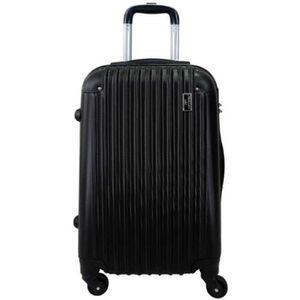 "VALISE - BAGAGE Valise Moyenne 4 roues 65cm ""Ray"" ABS Rigide Noir"