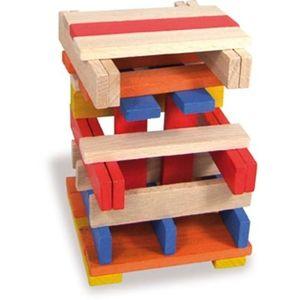 ASSEMBLAGE CONSTRUCTION VILAC Batibloc color - 100 planchettes en bois mas