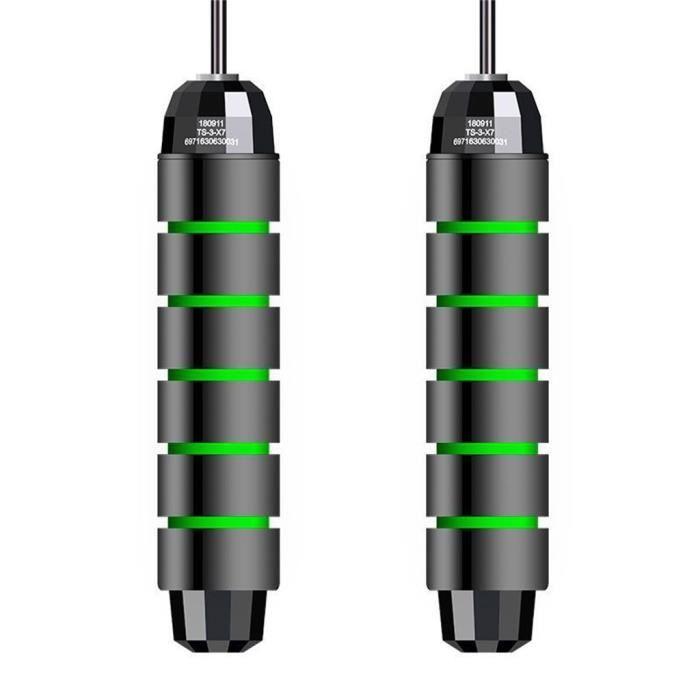 Corde à sauter sans enchevêtrement avec roulements à billes Rapids Speed Jump Rope Cable et 6 rg1134