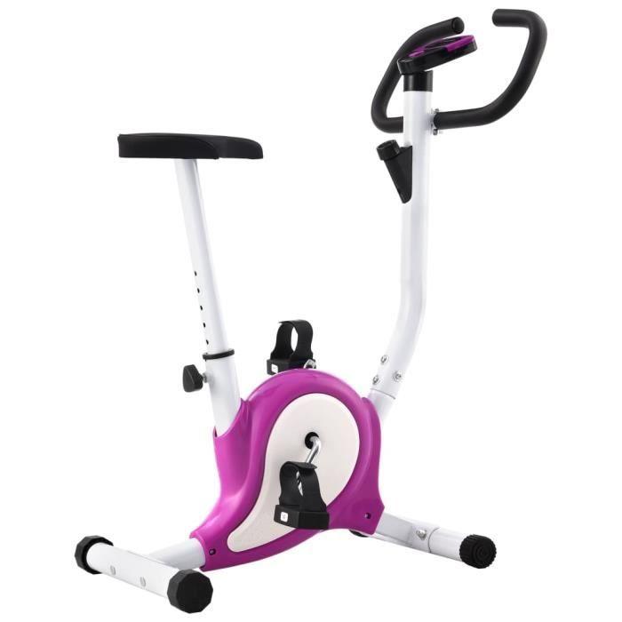 Vélo d'appartement avec résistance à courroie Violet RUR