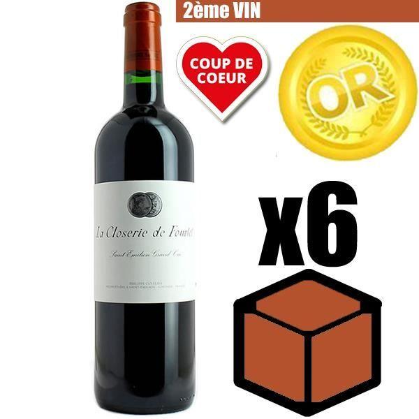 X6 La Closerie de Fourtet 2016 75 cl AOC Saint-Émilion Grand Cru 2ème Vin Vin Rouge