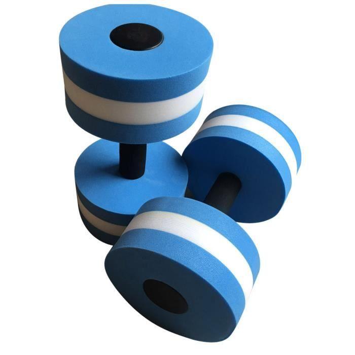 2pcs eau aérobic haltères EVA aquatique Barbell Fitness Aqua Pool exercice