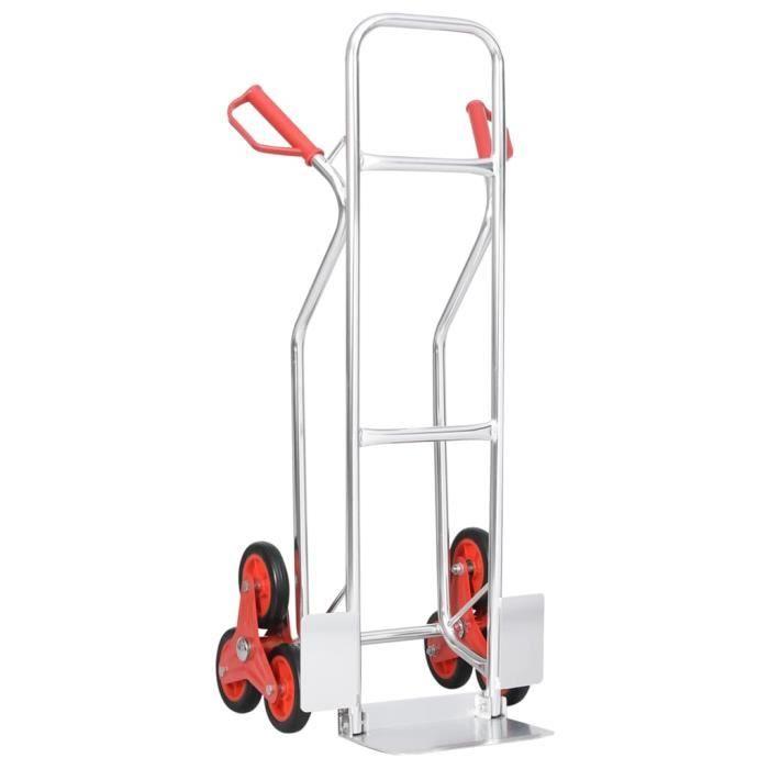 Diable monte-escalier avec 6 roues 51x53,5x118 cm 150 kg Chic *750606