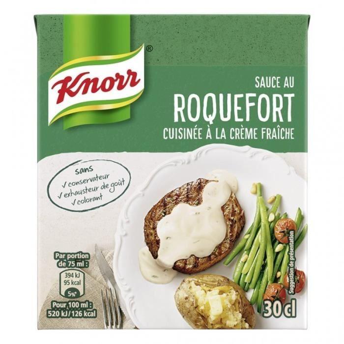Knorr Sauce au Roquefort Cuisinée à la Crème Fraîche 30cl (lot de 6)