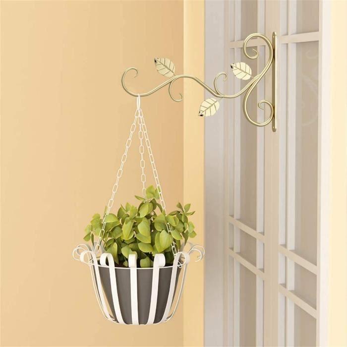Crochet en métal de support de suspension de support de suspension de pot de plante d'intérieur et extérieur de type mural-C409