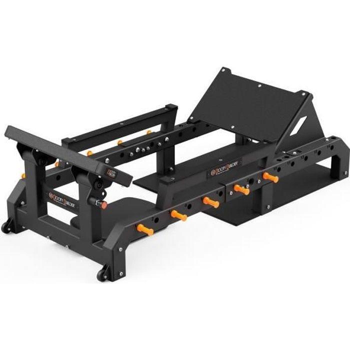 Booty Builder Machine à fessier BB Station professionnelle multifonctionnelle pour abdominaux/fessiers Noir