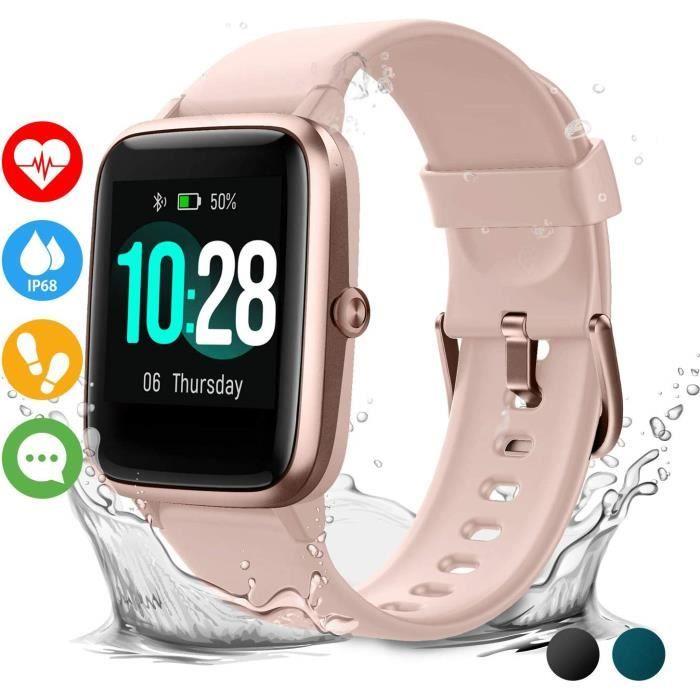 Montre Connectée Homme Femmes Smartwatch étanche Smart Watch Toute la journée fréquence Cardiaque et Suivi d'activité, Fitness Track