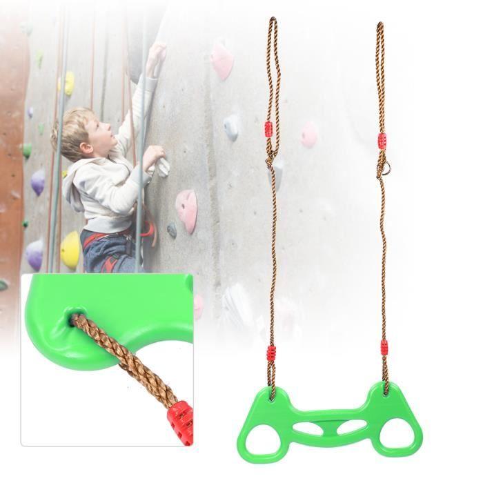 Anneau de Traction Multifonctionnel avec Corde Jouet de Balançoire Enfants pour Extérieur Intérieur(Vert )