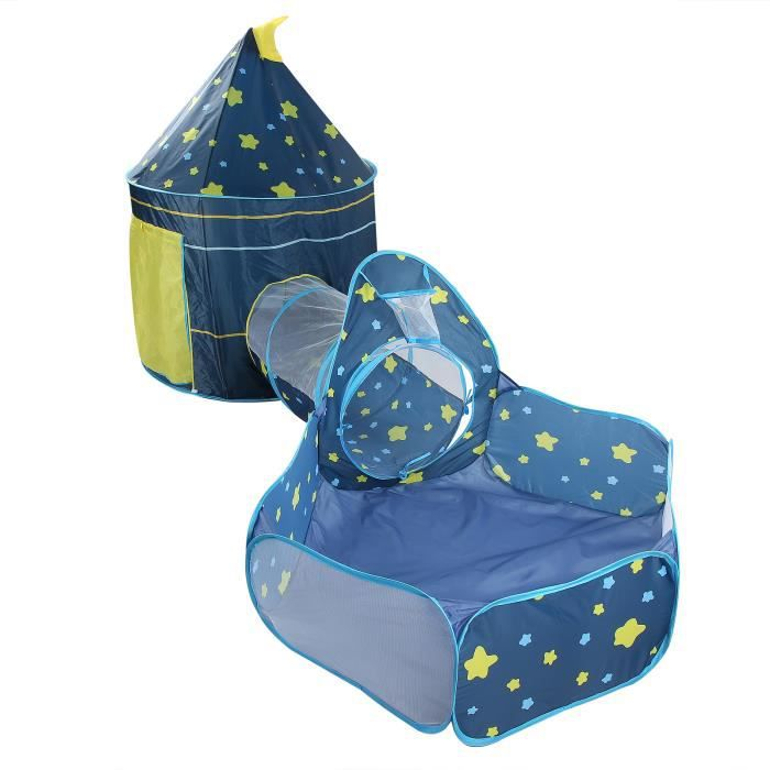 EBTOOLS Tente bébé 3pcs bébé tente enfant ramper tunnel jouer tente intérieur enfants enfant en bas âge jouet piscine à