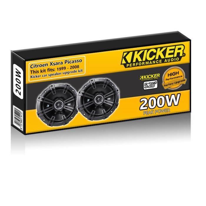 Citroen Xsara Picasso Haut-parleurs de porte arrière Kicker 5.25 -haut-parleur 13cm de voiture