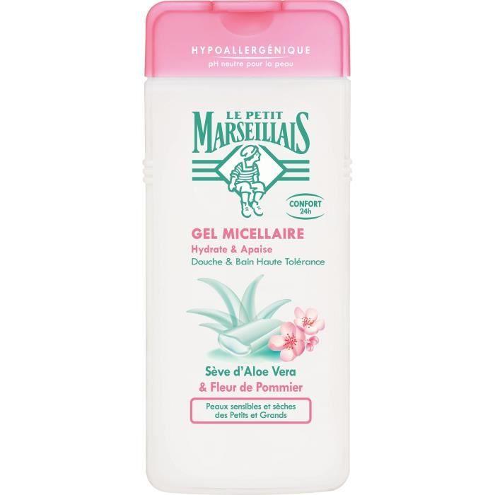 LE PETIT MARSEILLAIS Douche et bain Hypoallergénique - Sève Aloe Fleur Pommier - 650 ml