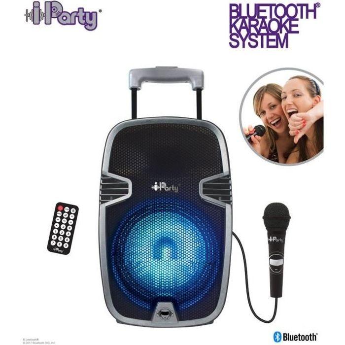 LEXIBOOK Enceinte karaoké Bluetooth® lumineuse